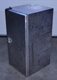 Enorme RVS kist voor op een voertuig of aanhanger - zonder sleutel, slot is makkelijk te vervangen - 100 x 50 x 55 cm - origineel