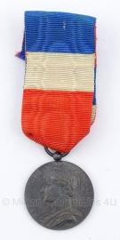 """Belgische """"Republique Francaise"""" ijzeren  medaille - Origineel"""