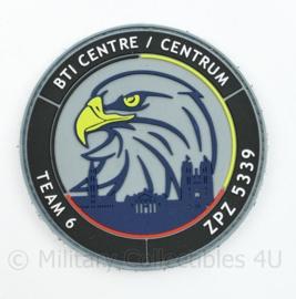 Belgische Politie Team 6 embleem - origineel met klittenband - BTI Centre ZPZ 5339 - diameter 9 cm - origineel