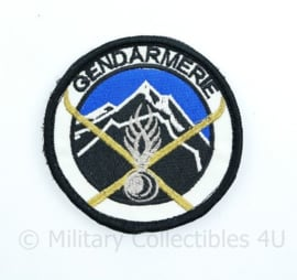 Frans Gendarmerie embleem - Emblème des Unités de montagne de la Gendarmerie nationale - met klittenband - diameter 8 cm - origineel