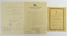 WO2 Duitse document set en Sterbebild van 1 persoon - origineel