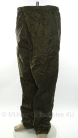 KL en Klu regenbroek jekker KL Broek Natweer groen - met ingebouwde draagtas - maat XS, small(ongebruikt!) of Extra Large - origineel