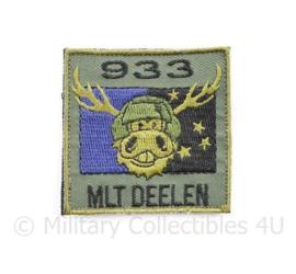 Klu Luchtmacht borst embleem 933 Squadron MLT Militair Luchtvaartterrein Deelen  - met klittenband - 5 x 5 cm - origineel