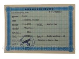 Stalag tewerkstelling - Nederlandse krijgsgevangene - Anthonie Thomas Gase Amsterdam