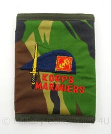 Korps Mariniers portemonee - camo print - afmeting 13 x 10 cm - origineel