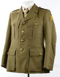 DKG en MVO zeldzaam lang model uniform jas - maat 46 ¼ - origineel