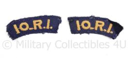 Nederlands leger straatnaam paar 1944  10.R.I. 10 Regiment Infanterie  - gebruikt - origineel