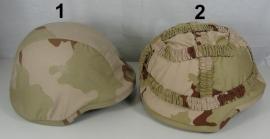 KL helmovertrek voor composiet helm ballistische helm - desert camo - keuze uit 2 modellen en alle maten - origineel