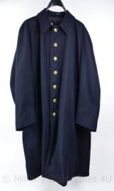 Zeldzaam NS Nederlandse spoorwegen  1970 donkerblauwe mantel van Machinist - maat XL - origineel