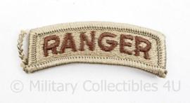 US Army Desert TAB Ranger embleem- 6 x 2,5 cm - origineel