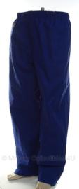 Koninklijke Marechaussee regenbroek blauw - maat 7585/8090 - origineel