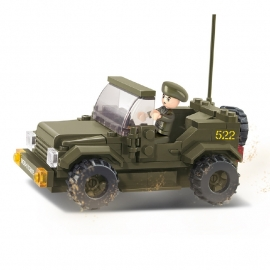 Sluban (geen lego) Jeep - type M38-B0296