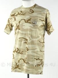 KL Landmacht deserc camo T shirt ISAF 45 Bg RIOG - Oranje Gelderland - Staf Compagnie - Desert - maat L - origineel