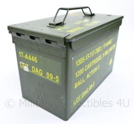 Defensie munitiekist 1200 cartridge 9 mm voor bijvoorbeeld Glock 17 - 29,5 x 18,5 x 14 cm - gebruikt - origineel