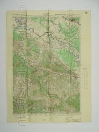 Duitse stafkaart Jugoslawien Kostajnica Blatt 42 Sonderausgabe Nur für den Dienstgebrauch Joegoslavie - 64,5 x 50 cm. schaal 1:100000 - origineel 1932