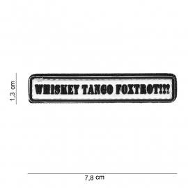 Embleem 3D PVC PVC - met klittenband - WTF Whiskey Tango Foxtrot - 7,8 x 1,3 cm