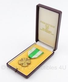 """Belgische """"orde van Leopold II"""" goud medaille met doosje  - Origineel"""