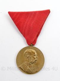 Oostenrijkse Jubileum-Herinnerings 1898 medaille - afmeting 5 x 8 cm - originele set