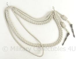 KMAR Marechaussee paradekoord Nestel met echt zilveren nestelpennen - origineel