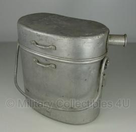 Frans leger Grote eenheids voedsel gamel -WO2 M.M.T. 1943 Tournus - (30 cm. hoog! )origineel
