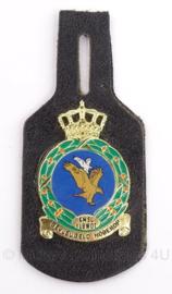 KLu KMSL VLBWOT Koninklijke Militaire School Luchtmacht vliegbasis woensdrecht borsthanger - 9 x 4 cm - Origineel