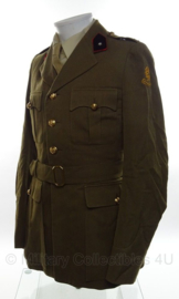 KL Nederlandse leger DT uniform set met jas en broek - Onderluitenant - Veldartillerie - maat jas Medium en broek 82x80 - origineel