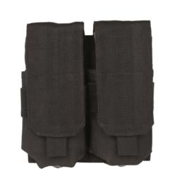 Magazijntas Double M4/M16 Magazin pouch koppeltas - MOLLE draagsysteem - 16 x 5 x 17 cm - ZWART