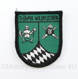 TRUBPIK WILDFLECKEN oefenterrein embleem Duitsland  - met klittenband -  7,5 x 6 cm - origineel
