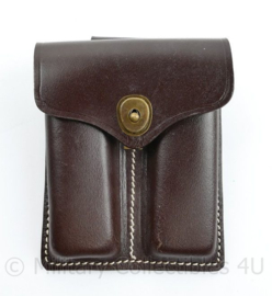 Colt M1911 magazine pouch - bruin leder - met pistol belt haak
