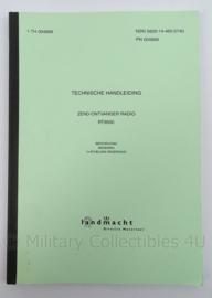 KL Landmacht Technische Handleiding TH4868 - zend- ontvanger radio RT 9500 - afmeting 30 x 21 cm - origineel