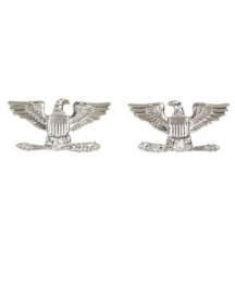 1 Paar US officer rank insignia Full Bird COLONEL - 1 PAAR