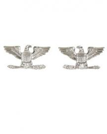 1 Paar US officer rank insignia Full Bird COLONEL - 1 PAAR