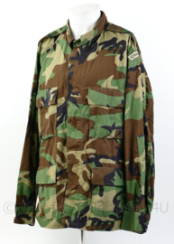 Koninklijke Marine Woodland BDU uniform jas met marine straatnaam - topstaat! - Large- regular -  origineel