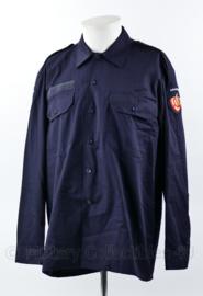 Brandweer kazerne teneu overhemd donkerblauw - lange mouw - 6080/0005 - nieuw - origineel