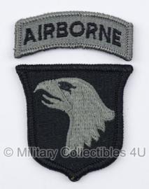 US Army Foliage patch met tab - 101st Airborne Division - met klittenband - voor ACU camo uniform - origineel