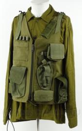 Israelische leger Tactical vest met tasjes en veldfles - groen - maat verstelbaar - origineel