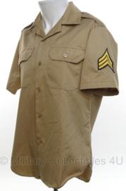 US Army Vietnam oorlog overhemd khaki Sergeant - korte mouw - maat Medium - origineel