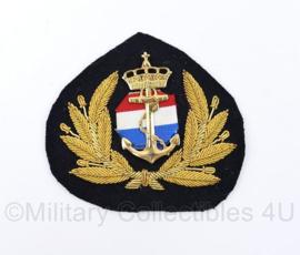 Koninklijke Marine en scheepvaart pet insigne Officier - 8,5 x 8,5 cm - origineel