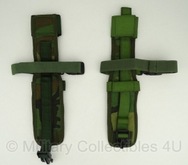 Opbouwtas gevechtsmes meshouder (been) Forest camo Korps Mariniers  - origineel