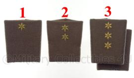 KL set epauletten schouderstukken rangen regenjas - OFFICIER - origineel