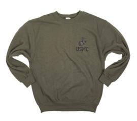 USMC US Marine Corps OD Groene Sweater ONGEDRAGEN - meerdere maten - origineel
