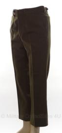 Russische rechte broek groen - maat 50 - origineel