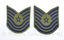 USAF US Air Force rang embleem paar -  Master Technical Sergeant - 10 x 9 cm - origineel
