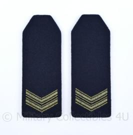 KM Koninklijke Marine en Korps Mariniers epauletten schouderstukken set - Korporaal - origineel