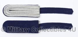 Kriegsmarine schouderstuk set  Leutnant zur See tm. Kapitänleutnant  - origineel net naoorlogs