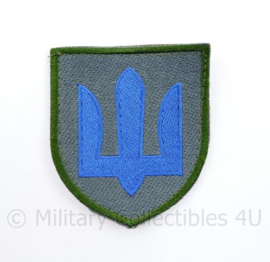 Ukrainian Army patch emblem Flag Cossack Sables Blue - met klittenband  - 8,5 x 7 cm - origineel