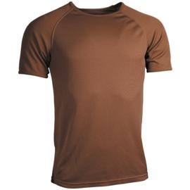 Landmacht shirt bruin , mannen vochtregulerend  warm weer -  alle maten weer op voorraad! - origineel