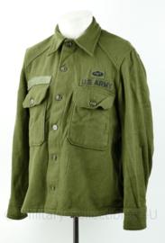 US Army Korea en Vietnam oorlog wool shirt met parawing - maat M - origineel