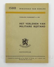 MVO voorschrift het Verlenen van Militaire Bijstand nr. 1580 - 1946 - afmeting 12 x 17 cm - origineel