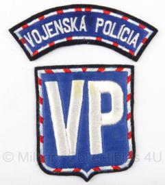 Tsjechische Militaire Politie MP embleem set Vojenska Policia - origineel